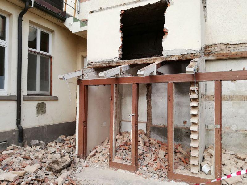 Abriss-Balkon